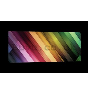Painting on canvas: Color Glow (2) - 145x45 cm