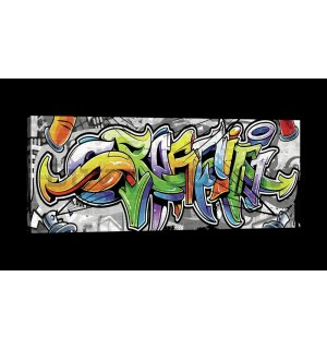 Painting on canvas: Graffiti (12) - 145x45 cm