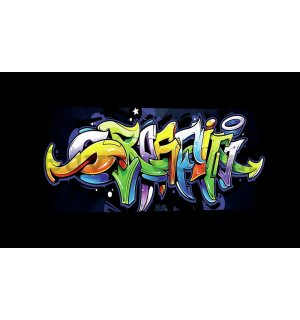 Painting on canvas: Graffiti (4) - 145x45 cm