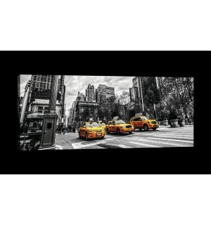 Painting on canvas: New York (Taxi) - 145x45 cm