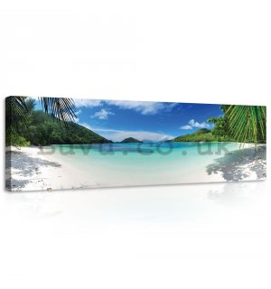 Painting on canvas: Paradise on the Beach (5) - 145x45 cm