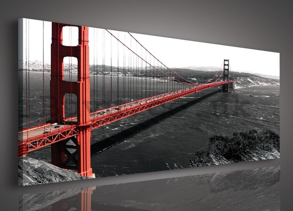 Painting on canvas: Golden Gate Bridge (1) - 145x45 cm