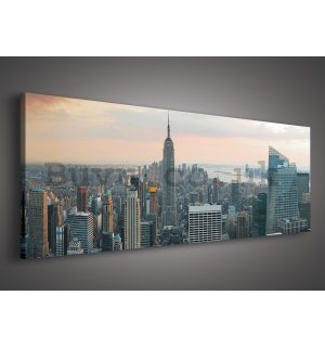 Painting on canvas: Manhattan - 145x45 cm