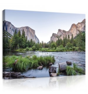 Painting on canvas: Yosemite Valley - 75x100 cm