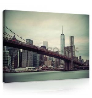 Painting on canvas: Brooklyn Bridge (2) - 75x100 cm