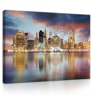 Painting on canvas: Reflection of New York - 75x100 cm
