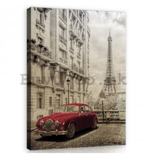 Painting on canvas: Retro Paris - 100x75 cm