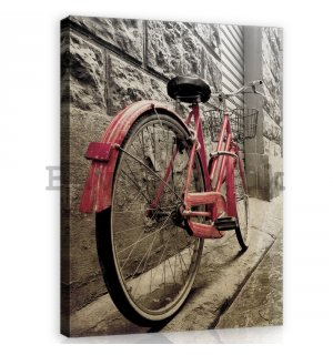 Painting on canvas: Pink Bicycle - 100x75 cm