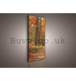Painting on canvas: Autumn forest - 145x45 cm