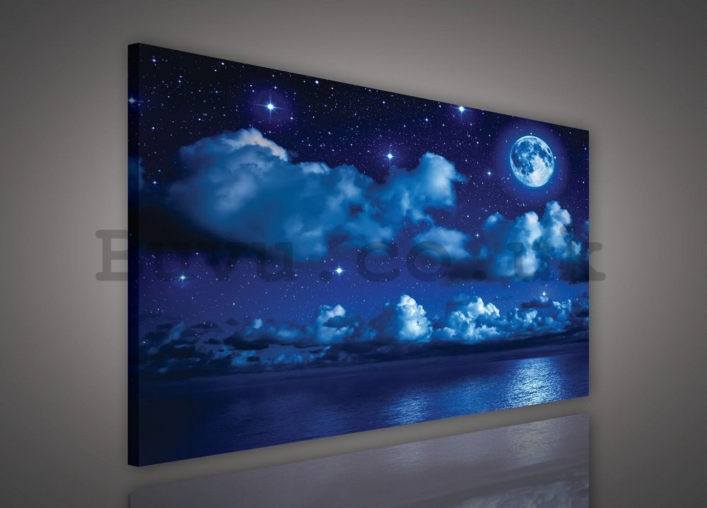 Painting on canvas: Moon Night - 75x100 cm