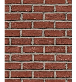 Vinyl wallpaper red brick wall (1)