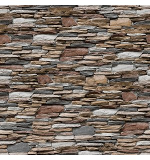 Vinyl wallpaper brown stone wall