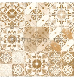 Vinyl wallpaper beige ornaments