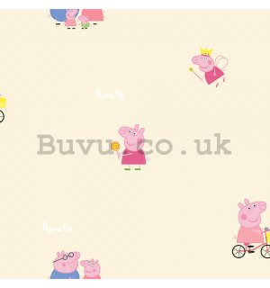 Vinyl wallpaper Peppa pig