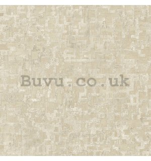 Vinyl wallpaper structured beige