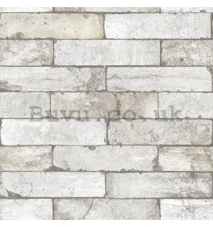 Vinyl wallpaper gray brick wall (7)