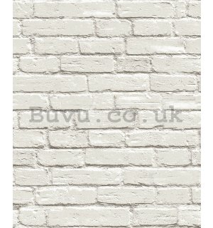 Vinyl wallpaper gray brick wall (4)