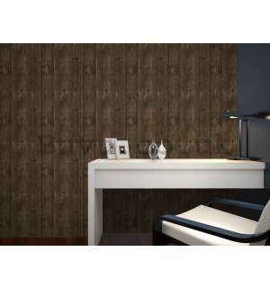Vinyl wallpaper wood cherry