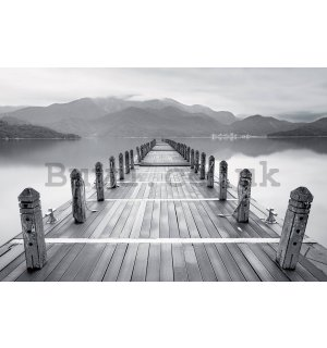 Painting on canvas: Black and white pier - 116x76 cm