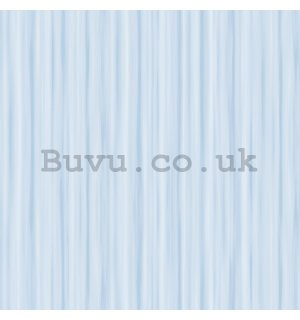 Vinyl wallpaper structured - thin stripes shade of light blue