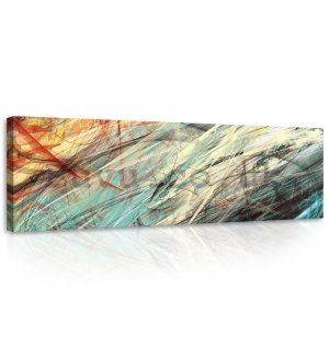 Painting on canvas: Modern Abstraction (1) - 145x45 cm