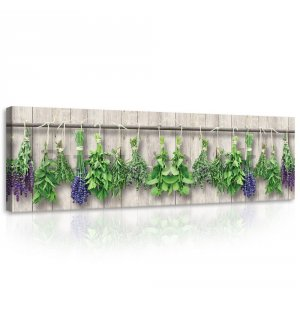 Painting on canvas: Lavender and herbs - 145x45 cm