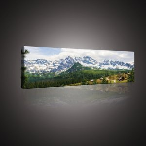 Painting on canvas: Tatra Mountains (1) - 145x45 cm