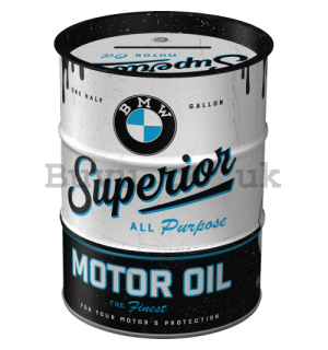 Money Box Oil Barrel: BMW Superior Motor Oil