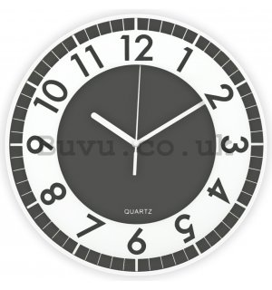 Wall clock: Modern (dark grey) - 30 cm