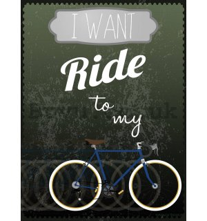 Wall mural: I Want to Ride my Bicycle - 184x254 cm