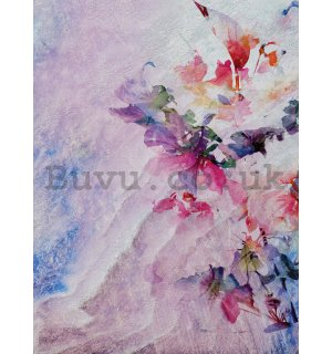 Wall mural: Multicolored floral abstraction - 184x254 cm