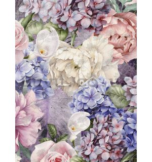 Wall mural: Flower combination (1) - 184x254 cm