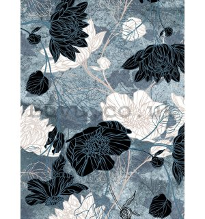 Wall mural: Painted flower combination (1) - 184x254 cm
