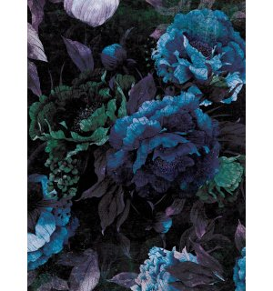 Wall mural: Painted flower combination (2) - 184x254 cm