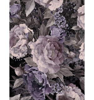 Wall mural: Painted flower combination (3) - 184x254 cm