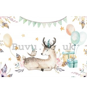 Wall mural vlies: Celebration with animals - 368x254 cm