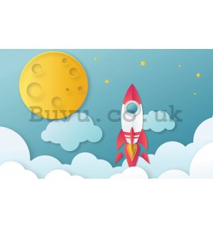 Wall mural vlies: Rocket to heaven - 368x254 cm