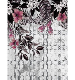 Wall mural: Painted floral abstraction (2) - 184x254 cm