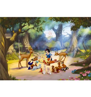 Wall mural vlies: Snow White and the Seven Dwarf (1) - 360x270 cm