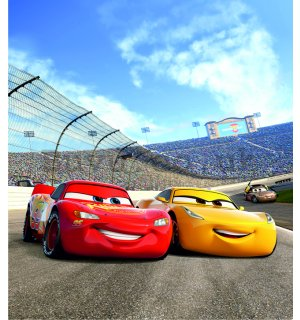 Wall mural vlies: Cars race - 180x202 cm