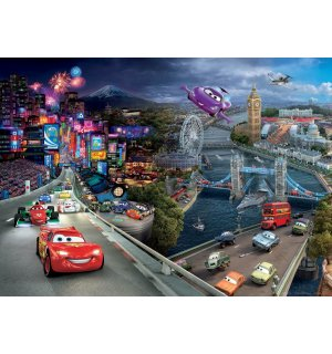 Wall mural vlies: Cars II London - 160x110 cm