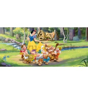 Wall mural vlies: Snow White and the Seven Dwarf (panorama) - 202x90 cm