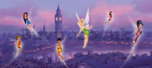 Wall mural vlies: Disney fairies (panorama)  - 202x90 cm