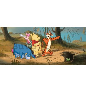 Wall mural vlies: Winnie the Pooh & friends (panorama)  - 202x90 cm