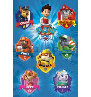 Poster - Paw Patrol (Crests)