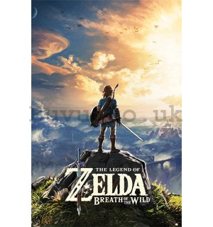 Poster - The Legend Of Zelda: Breath Of The Wild (Sunset)