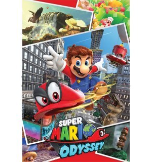 Poster - Super Mario Odyssey (Collage)