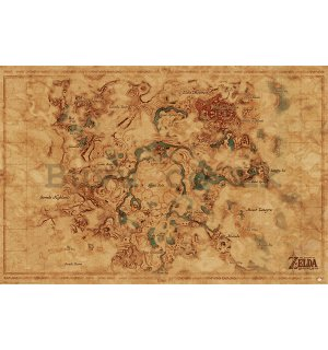 Poster - The Legend Of Zelda: Breath Of The Wild (Hyrule World Map)
