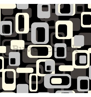 Vinyl wallpaper retro cubes