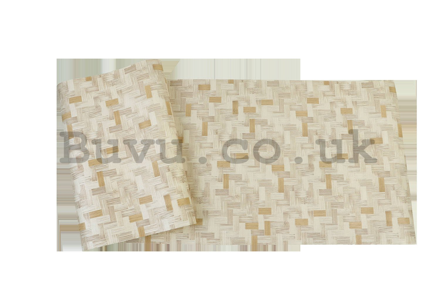 Vinyl wallpaper retro cubes beige shades
